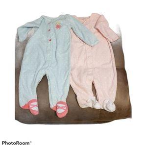 Carter's Terrycloth Footed Pajamas 6 Months,